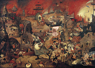 Horrors Of War Painting - Dull Gret by Pieter the Elder Bruegel