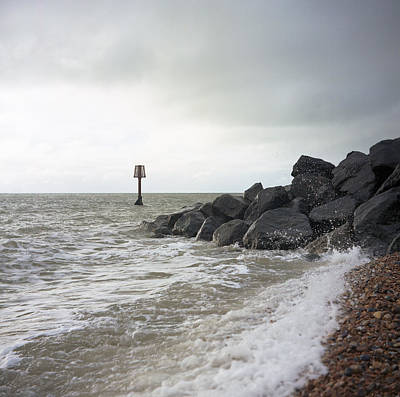 Photograph - Dull Morning Seascape by Will Gudgeon