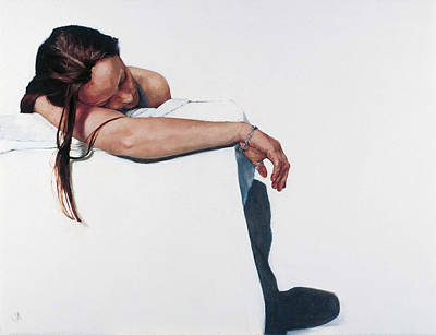 Introspective Painting - Dull Silver by Jennifer Anderson