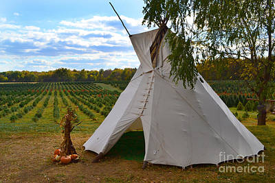 Indiana Photograph - Dull Tree Farm Teepee by Amy Lucid