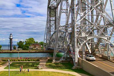 Photograph - Duluth Aerial Lift Bridge by Bonnie Follett
