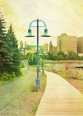 Digital Art - Duluth Boardwalk  by Susan Stone