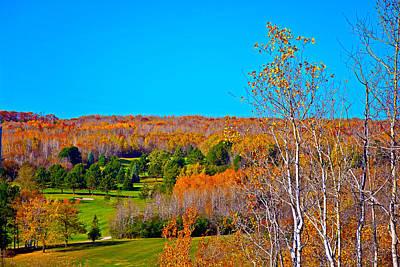 Photograph - Duluth Golf In Autumn by Robert Meyers-Lussier