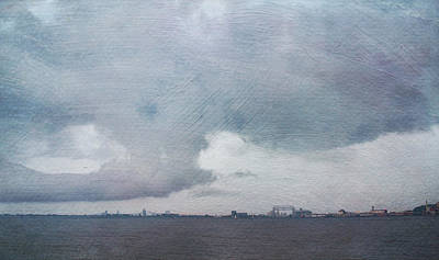 Digital Art - Duluth Harbor As The Storm Rolls In by Heidi Hermes