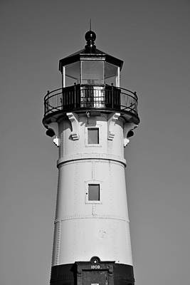 Photograph - Duluth Harbor North Breakwater Lighthouse 2 by Robert Meyers-Lussier