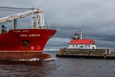Duluth Photograph - Duluth Harbor by Paul Freidlund
