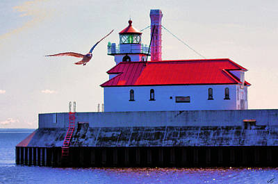 Duluth Lighthouse Art Print