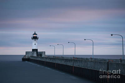 Duluth Canal Park Canal Park Lighthouse Lighthouse Lake Superior Minnesota Photograph - Duluth North Pier Dawn by Ernesto Ruiz