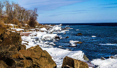Duluth Shoreline Art Print by Nick Peters