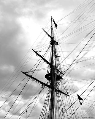 Duluth Digital Art - Duluth Tall Ships-black And White by Kathy M Krause