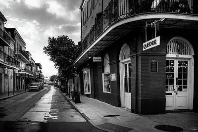 Photograph - Dumaine Street At Queork In Black And White by Greg Mimbs