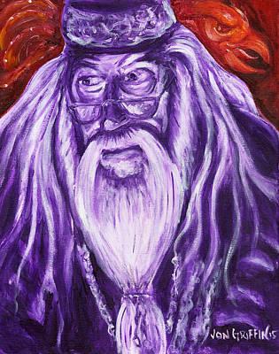 Dumbledore Painting - Dumble Dore by Jon Griffin