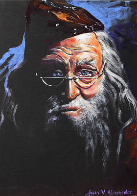 Harry Potter Painting - Dumbledore by Jean Alexander