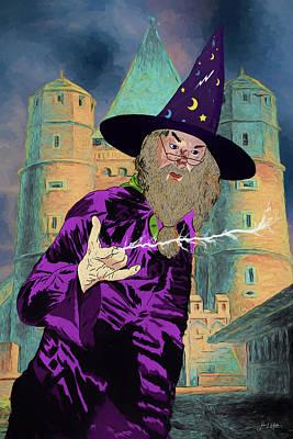 Digital Art - Dumbledore by John Haldane