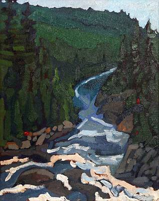 Painting - Dumoine Grande Chute by Phil Chadwick