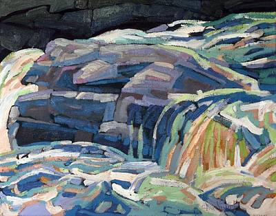 Painting - Dumoine Granite Ledge by Phil Chadwick