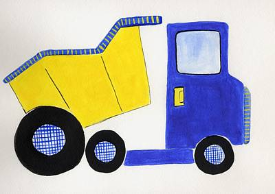 Painting - Dump Truck by Christine Quimby