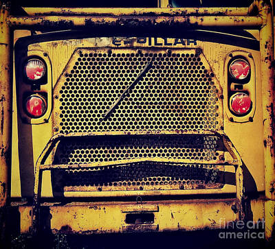 Machinery Photograph - Dump Truck Grille by Amy Cicconi