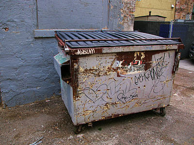 Photograph - Dumpster by Ely Arsha