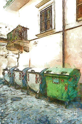 Digital Art - Dumpster Of Garbage by Giuseppe Cocco