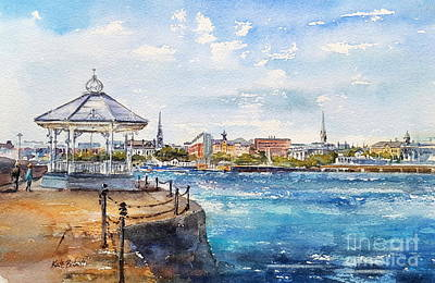 Bandstand Painting - Dun Laoghaire From The East Pier by Kate Bedell