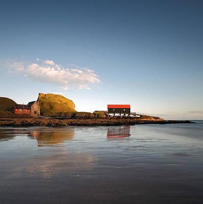 Photograph - Dunaverty Rock Reflections by Grant Glendinning