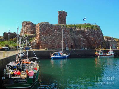 Dunbar Castle And Harbour Art Print
