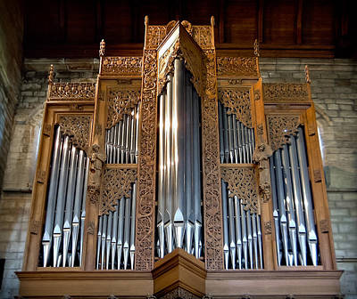 Photograph - Dunblane Cathedral Pipe Organ by Jenny Setchell
