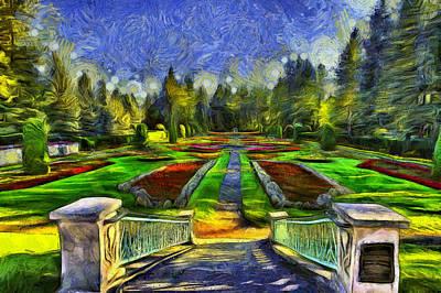 Duncan Gardens Van Gogh Style Art Print by Mark Kiver