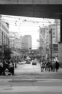 Toronto Streetcar Photograph - Dundas Looking East by Kreddible Trout