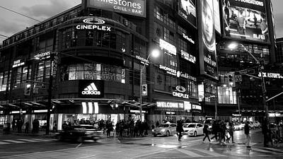Photograph - Dundas Square Night Scene by Valentino Visentini