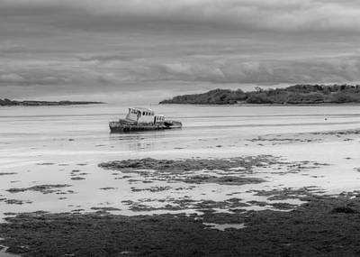 Photograph - Dundrum The Old Boat Wreck by Glen Sumner