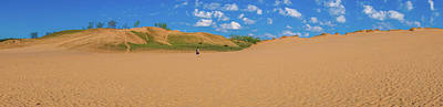 Photograph - Dune Climb Panorama by Dan Sproul