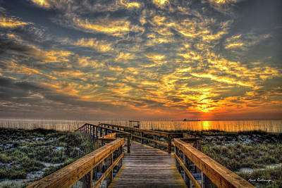Photograph - Dune Dawn Tybee Island Georgia Beach Art  by Reid Callaway