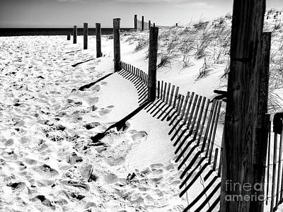 Photograph - Dune Fence Angles by John Rizzuto