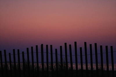 Photograph - Dune Fence At Dawn by Christopher Kirby