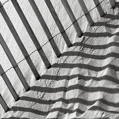 Photograph - Sand Dune Beach Fence by Charles Harden