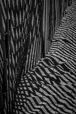 Dune Fence Art Print by Garry Gay