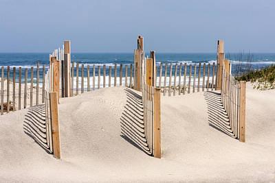Photograph - Dune Fence Landscape by Liza Eckardt