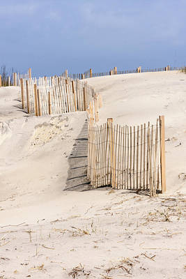 Photograph - Dune Fence Portrait by Liza Eckardt