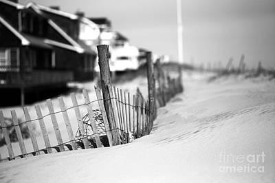 Photograph - Dune Fence Study by John Rizzuto