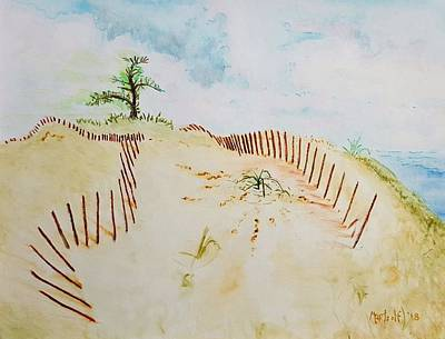 Wall Art - Painting - Dune Fences by Dave Martsolf