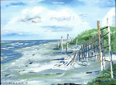 Painting - Dune Fences Isle Of Palms by Patrick Grills