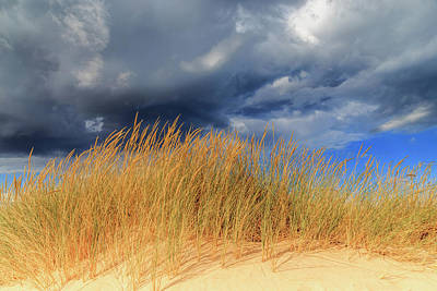 Photograph - Dune Grass And Storm Clouds by Robert Caddy