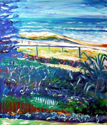 Print featuring the painting Dune Grasses by Winsome Gunning