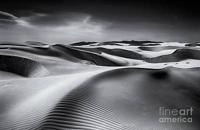 Landscapes Photograph - Dune Lines In Monochrome by Mimi Ditchie