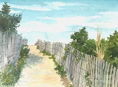 Bethany Beach Wall Art - Painting - Dune Path by Trevor Lewis
