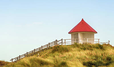 Red Roof Photograph - Dune Pavilion by Wim Lanclus