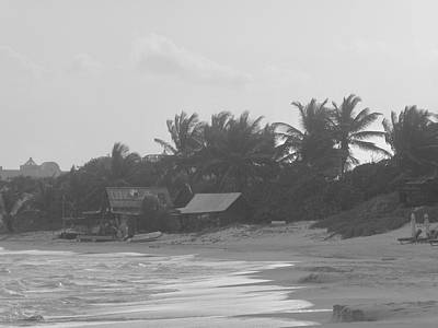 Photograph - Beach In Black And White by Margaret Brooks