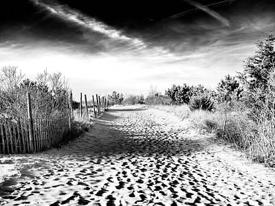 Photograph - Dune Shadows At Harvey Cedars by John Rizzuto